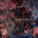 Vela Supernova Remnant HOORGB Blend--Very Wide Field,                                Tom Peter AKA Astrovetteman