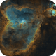 Heart Nebula and WeBo 1,                                Monkeybird747