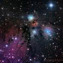 NGC2170 4 panel mosaic,                                Astrowood