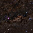 Milky Way, Triffid and Lagoon Nebula,                                anderson.duarte