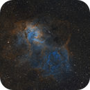 Sharpless 2-132: the Lion Nebula in Cepheus - a two-panel mosaic in 'Hubble Palette' (SHO),                                Steve Milne