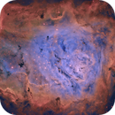 M8, Lagoon Nebula in SHO,                                S. Stirling