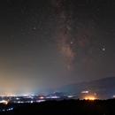 Milky way  above the city,                                Miroslav Horvat