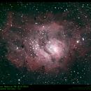 Lagoon Nebula M8 8/2/2014,                                Tom Masterson