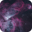 Carina and Gabriela Mistral nebulae (5 panel mosaic, HSOOH),                                Todd