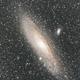 Andromeda Galaxy - M31 - 300mm - 0.75 Crop,                                Matt Stahl
