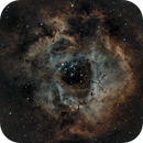 Rosette Nebula - HOO combination. First attempt of a narrowband combination.,                                Vittorio