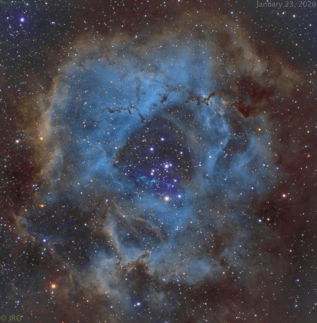 Rosette nebula in narrowband,                                Tom's Pics