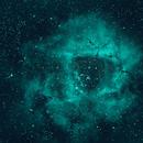 Rosette Nebula in SHO - unprocessed,                                Deddy Dayag