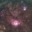 M8 - Lagoon Nebula  & M20 - Trifid Nebula,                                Sébastien Kesteloot