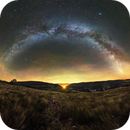 Galactic arch from the slippery cliffs on the RICE of Cevennes,                                Maxime Tessier