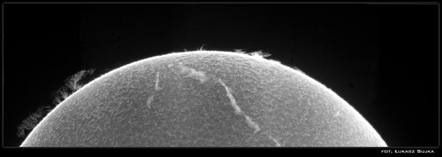 Sun in H-alpha 30.05.2015,                                Łukasz Sujka