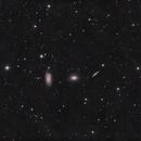 NGC 5982-5981-5985 The Draco trio in HaLRGB,                                Piet Vanneste
