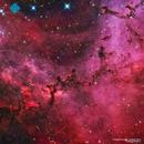 NGC2237 - Dust Sculptures in the Rosette Nebula (Ha OIII RGB),                                Francesco di Biase