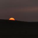 Wyoming Sunset under smoky skies,                                Uwe Deutermann