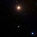 Messier 4 Globular Cluster in Scorpius + Giant Red Friend,                                Sigga