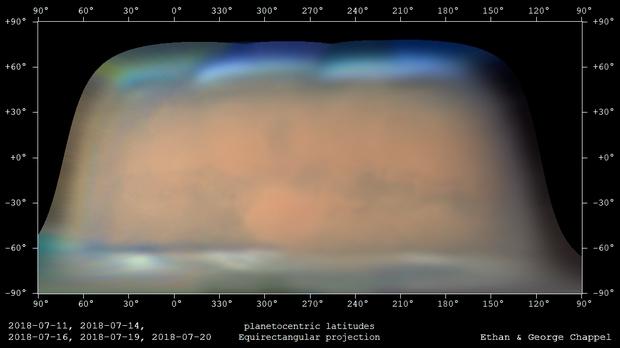 Mars Equirectangular   2018-07-11 to 2018-07-22,                                Chappel Astro