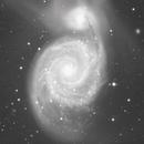 Animation montrant différents traitements de  la galaxie spirale Messier 51,                                Denis Bergeron
