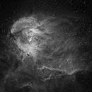 IC 2948/2944 Running Chicken Nebula & Thackeray's globules in Centaurus - H-Alpha,                                Ray Caro