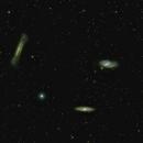 Galaxy trio in Leo (M-65, M-66, NGC-3628),                                Stargazer66207