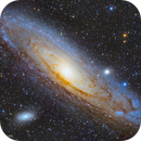 M31 - Andromeda Galaxy HaLRGB,                                Awni Hafedh