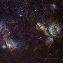 Nebulae along the Southern Rim of LMC-4,                                @HalH75