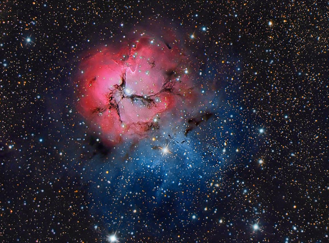 M20 - Trifid Nebula - RGB,                                George Varouhakis