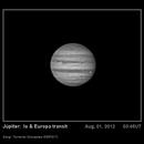 Transito simultaneo de Io y Europa sobre Júpiter, 1 de Agosto de 2012,                                SERGIT