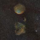 Sh2-216, Sh2-221 (Planetary Nebula & Supernova remnant),                                zombi