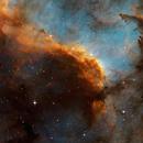 The wall of light  -  NGC7000  in Cygnus,                                Arnaud Peel