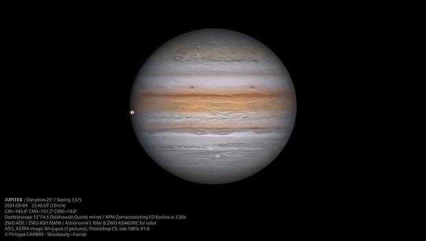 """Jupiter & Io """"inside"""" - September 04, 2021,                                Phil Cambre"""