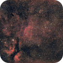 IC 1318, IC 1311, NGC 6888 and others, Canon EF200 f2,8 and  EOS 600D, on EQ3-2,                                Pulsar59