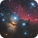The Flame and the Horsehead nebula with Star Adventurer and ZWO 071,                                Vincent F