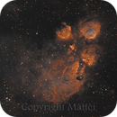 NGC 6334 - The Cat's Paw Nebula in HST palette,                                JOAO A MATTEI