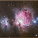 M42 'Great Orion Nebula' and Running Man (LRGB),                                Aarni Vuori