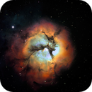 M20 Trifid Nebula SHO,                                chuckp