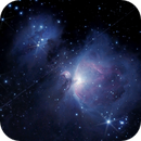 M42 Orion Nebula, NGC1977 Running Man and Globalstar 95  crossing in front,                                Camarone