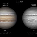 Jupiter (RGB & IR) - 3 July 2019,                                Geof Lewis