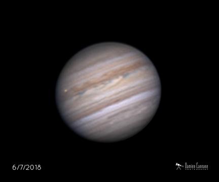 Jupiter with Io,                    Damien Cannane