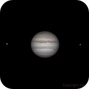 Animated GIF - Jupiter and dancing moons,                                Daniel Leclerc