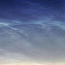 Noctilucent cloud (NLC) above Poland close up - 19.06.2016,                                Łukasz Sujka