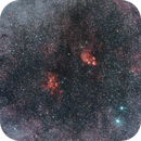 Lobster and Cat`s Paw Nebula on 135mm and L-eNhance,                                Samuel Müller