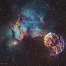 Ic 443& Ic444-la nébuleuse de la méduse SHO,                                astromat89