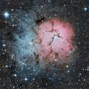 M20 Trifid Nebula 20200914 4680s LRGB 01.3.2,                                Allan Alaoui