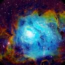 Lagoon Nebula in SHO,                                Rob Fink
