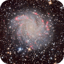 NGC6946, The Fireworks Galaxy in LHaRGB - stretching using General Hyperbolic Equations,                                David Payne