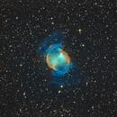 M27 The Dumbbell Nebula in HOO,                                Kevin Parker