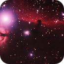 Flame and Horsehead Nebula through H2O filter (reprocessed),                                Stephen Harris