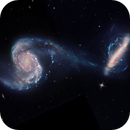 interacting galaxies Arp 87 - data from HST,                    andrealuna