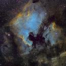 NGC 700 (North American) and IC 5070 (Pelican) nebulae in SHO,                                JD